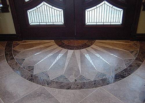 Foyer Marble Tile Designs : Custom tile mazzi contractors